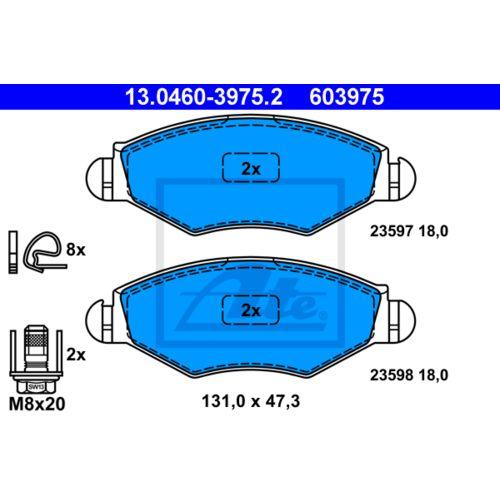 ATE 13.0460-3811.2 Bremsbelagsatz Scheibenbremse