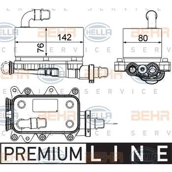 Ölkühler, Automatikgetriebe -- HELLA, BMW, 5 Touring (E61), (E60), X3...