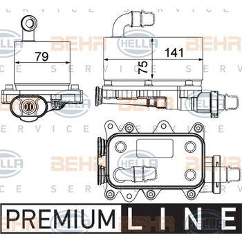 Ölkühler, Automatikgetriebe -- HELLA, LAND ROVER, RANGE ROVER III (LM),...