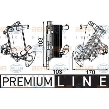Ölkühler, Automatikgetriebe -- HELLA, VW, SKODA, PASSAT Variant (3C5),...
