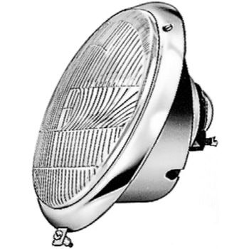 Hauptscheinwerfer -- HELLA, VW, KAEFER, Cabriolet (15), Einbauseite: L...