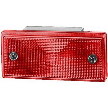 Lichtscheibe, Bremsleuchte -- HELLA, Prüfzeichen: E1 21406