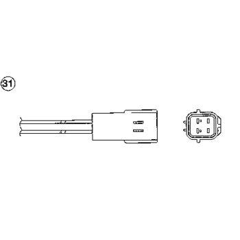 Lambdasonde -- NGK, Anzahl der Leitungen: 4, Länge [mm]: 590
