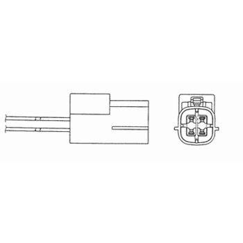 Lambdasonde -- NGK, NISSAN, MURANO (Z50), Anzahl der Leitungen: 4...