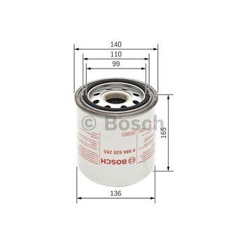 Lufttrocknerpatrone, Druckluftanlage -- BOSCH, Durchmesser [mm]: 140...