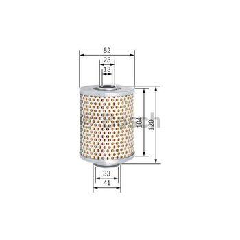 Hydraulikfilter, Lenkung -- BOSCH, Filterausführung: 9...
