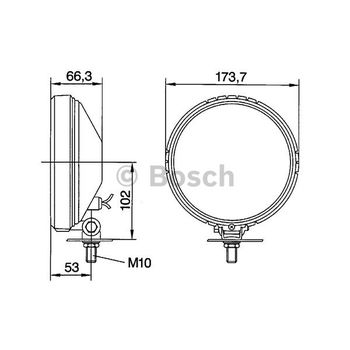 Nebelscheinwerfer -- BOSCH, Durchmesser [mm]: 174, Lampenart: 3...