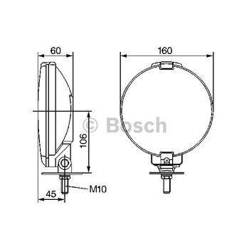 Nebelscheinwerfer -- BOSCH, Durchmesser [mm]: 177, Lampenart: 3...