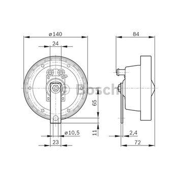 Horn -- BOSCH, BMW, VW, MOTORCYCLES, 5 (E34), LT 28-46 II Kasten...