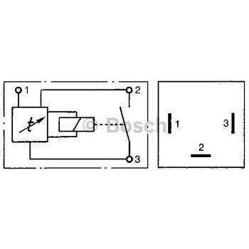 Verzögerungsrelais, Innenraumbeleuchtung -- BOSCH, Stromstärke [A]: 12,5...