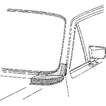 Frontscheibenrahmen -- VAN WEZEL, VW, GOLF I Cabriolet (155), (17), ...