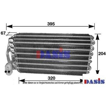Verdampfer, Klimaanlage -- AKS DASIS, BMW, 7 (E38), Länge [mm]: 320...