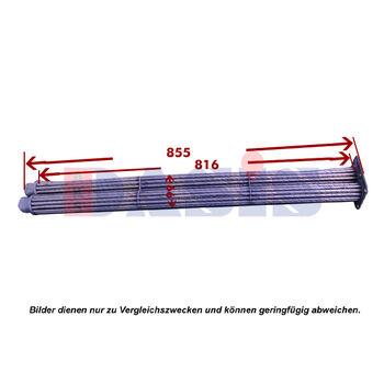 Kühlernetz, Motorkühlung -- AKS DASIS, Länge [cm]: 85,5, Breite [cm]: 9,9...