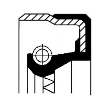 Wellendichtring, Radnabe -- CORTECO, Innendurchmesser 1 [mm]: 72...