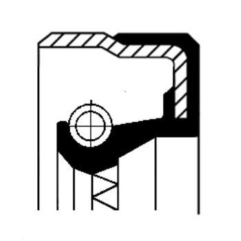 Wellendichtring, Nebenantrieb -- CORTECO, Innendurchmesser 1 [mm]: 55...