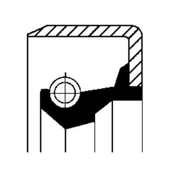 Wellendichtring, Differential -- CORTECO, Innendurchmesser 1 [mm]: 55...
