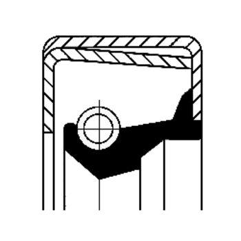 Wellendichtring, Radnabe -- CORTECO, Innendurchmesser 1 [mm]: 125...