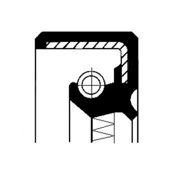 Wellendichtring, Nebenantrieb -- CORTECO, Innendurchmesser 1 [mm]: 35...
