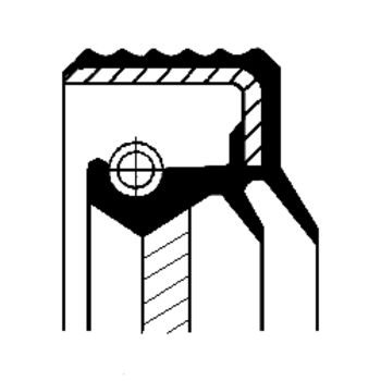 Wellendichtring, Differential -- CORTECO, Innendurchmesser 1 [mm]: 90...