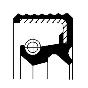 Wellendichtring, Differential -- CORTECO, Innendurchmesser 1 [mm]: 65...