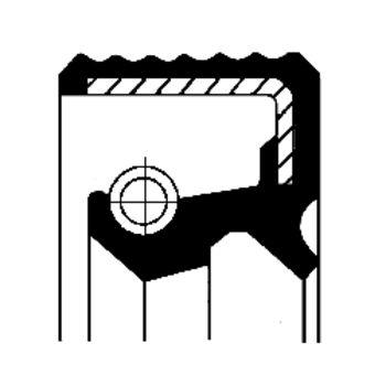 Wellendichtring, Verteilergetriebe -- CORTECO, FIAT, DUCATO Kasten...