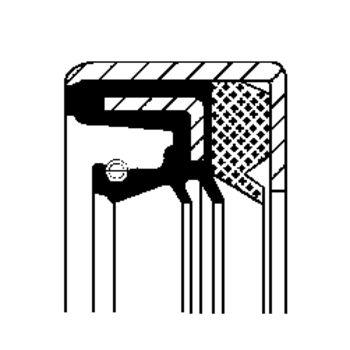 Wellendichtring, Differential -- CORTECO, Innendurchmesser 1 [mm]: 70...