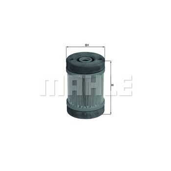 Harnstofffilter -- MAHLE, Höhe [mm]: 98,7, Außendurchmesser 1 [mm]: 65,5