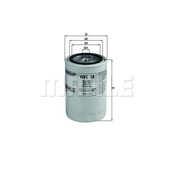 Kühlmittelfilter -- MAHLE, Filterausführung: 1...