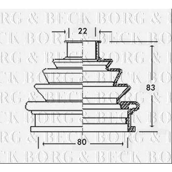 Faltenbalg, Antriebswelle -- BORG BECK, AUDI, A4 Avant (8D5, B5), ...