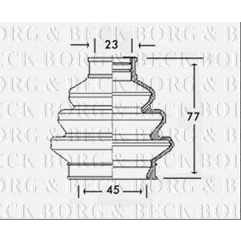 Faltenbalg, Antriebswelle -- BORG BECK, BMW, 3 (E36), Compact, 5...