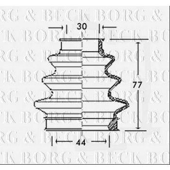 Faltenbalg, Antriebswelle -- BORG BECK, BMW, 3 (E46), (E90), 1 (E87),...
